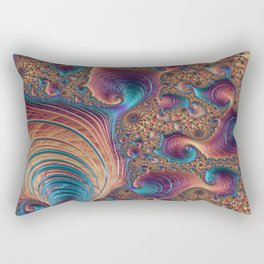 Fractal geometric repeating patterns Rectangular Pillow
