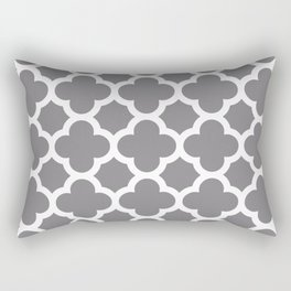 Gray Quatrefoil Rectangular Pillow