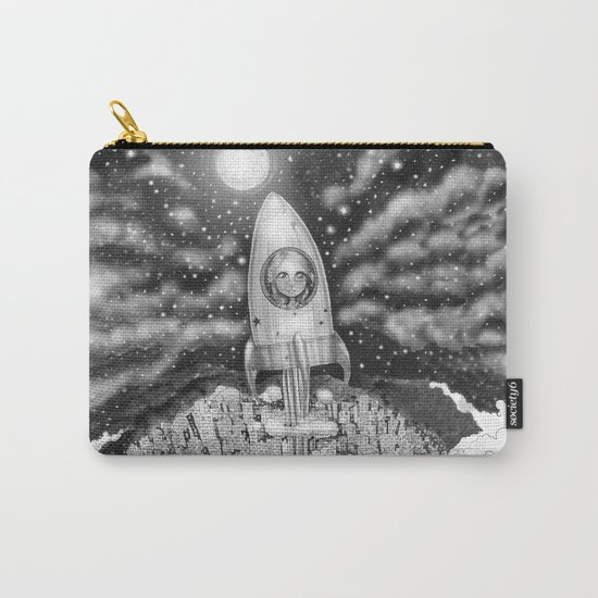 Running Away From Home In A Rocket Ship Carry-All Pouch