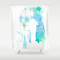 model Shower Curtains featuring MODEL by Happy as Flynn