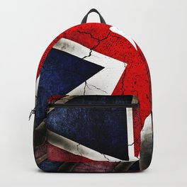 Punk Grunge Union Jack British Flag Backpack