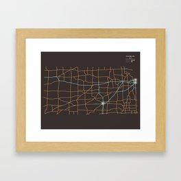 Kansas Highways Framed Art Print
