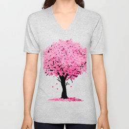 Sakura Tree Unisex V-Neck