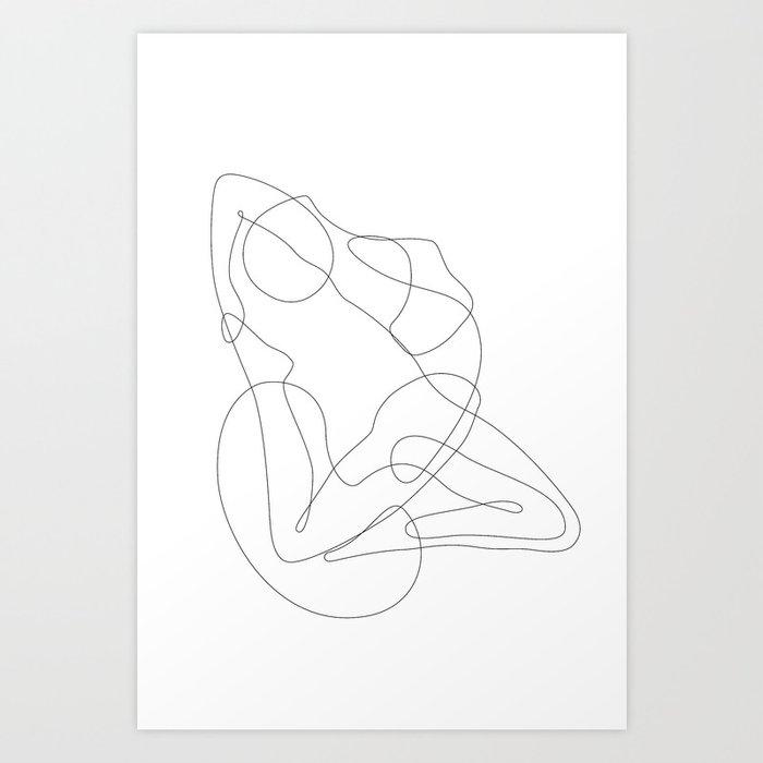 Yoga Lady Art Print