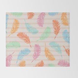 Dancing summer feathers Throw Blanket