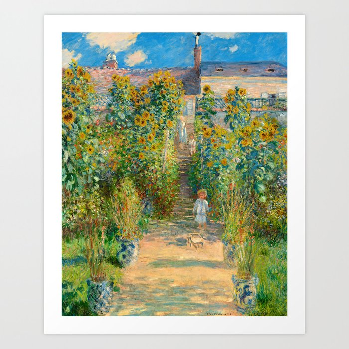 Bon Claude Monet, The Artistu0027s Garden At Vétheuil, 1880 Art Print