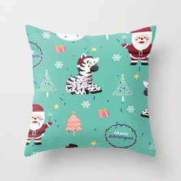 Santa Claus Pattern Throw Pillow
