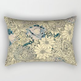 Exotic Flowers Garden Rectangular Pillow