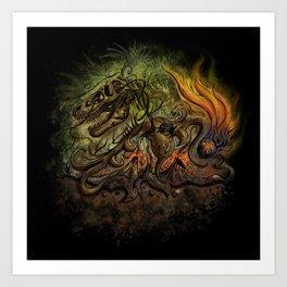Extinction Chaos Art Print