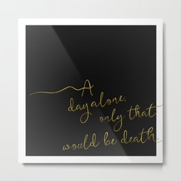 Hers Love Quote - Morticia Addams Metal Print