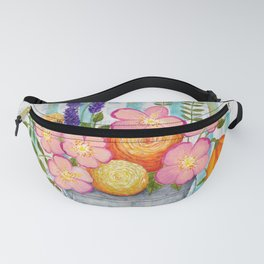 Old chair with flowers Fanny Pack