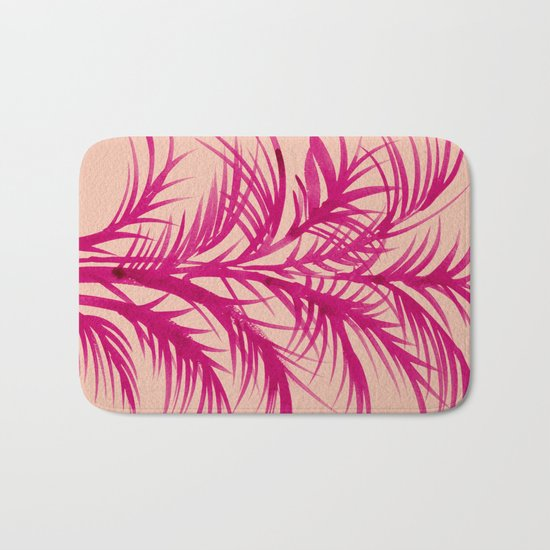 Pink Palms Bath Mat