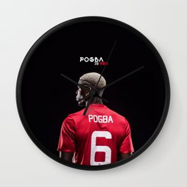 Pogba is Red Wall Clock