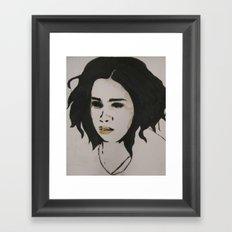 stephanie one Framed Art Print