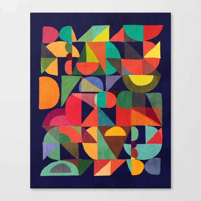 Color Blocks Leinwanddruck