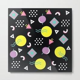 90's geometry Metal Print