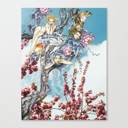 Tricksters in the Tree Top Canvas Print