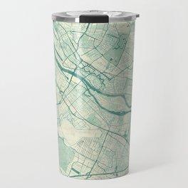 Bremen Map Blue Vintage Travel Mug