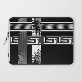 Creative Black and white pattern . The braided belts . Laptop Sleeve