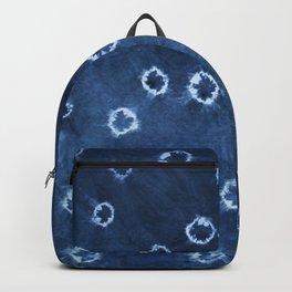 Indigo Shibori - Boho Circle Tie-Dye Backpack