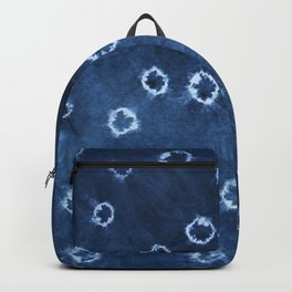 Indigo Shibori - Boho Circle Tie-Dye Backpack