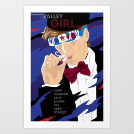 80s TEEN MOVIES :: VALLEY GIRL Art Print