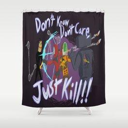 Surviving the Downpour Shower Curtain