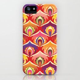 Flower power hippie floral iPhone Case