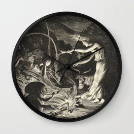 Witch - 17th Century Illustration Wall Clock