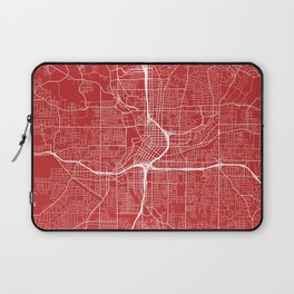 Atlanta Map, USA - Red Laptop Sleeve