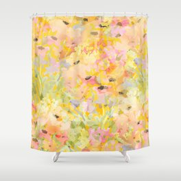 Buttercup Fields Forever Shower Curtain