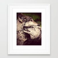 wolves Framed Art Prints featuring Wolves by CLE.ArT.