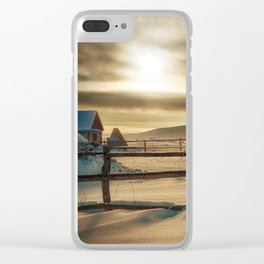 Visions of Sun Snow Clear iPhone Case