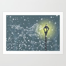 Pictures in the Snow Art Print