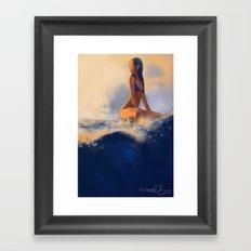 Morning Wave Framed Art Print