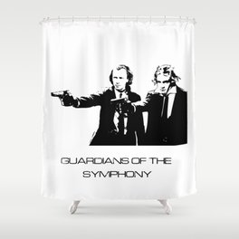 Brahms & Beethoven Guardians of the Symphony Shower Curtain