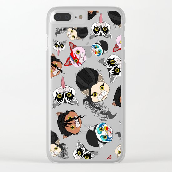 Pop Cats Clear iPhone Case