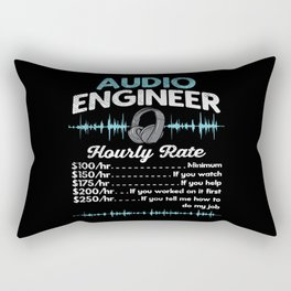 Audio Engineer Hourly Rate Motif Rectangular Pillow