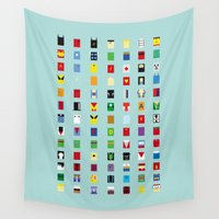 minimalism Wall Tapestries featuring Minimalism SH by Fabian Gonzalez