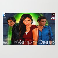 vampire diaries Area & Throw Rugs featuring The Vampire Diaries by Don Kuing