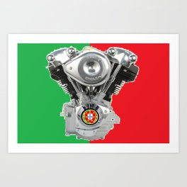 Portuguese Motorcycle Riders Art Print
