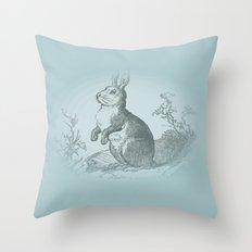 Bunny Rabbit {teal} Throw Pillow