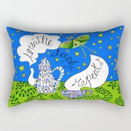breathe, deeply, repeat ... Rectangular Pillow