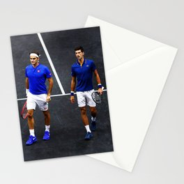 Federer and Djokovic Doubles Stationery Cards