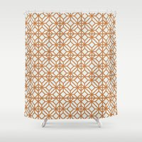 yellow pattern Shower Curtains featuring Yellow Pattern by Caite Schultz