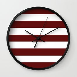 Blood (organ) - solid color - white stripes pattern Wall Clock