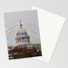 St. Paul's behind bubbles. Stationery Cards