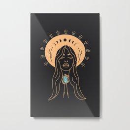 Desert Angel in Peach & Grey Metal Print