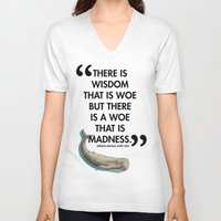 dick V-neck T-shirts featuring Moby Dick by The Sea or You