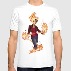 Modern Chandra SMALL Mens Fitted Tee White